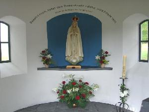 Fatimamadonna in der  Kapelle am Steinhaus